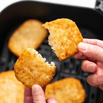 How to Air Fry Frozen Hash Brown Patties Crispy Easy   BestRecipeBox.com