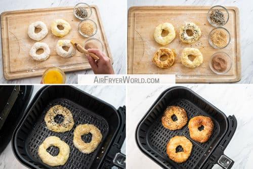 homemade bagels recipe in basket
