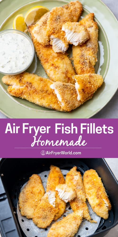 Air Fryer Fish Fillet or fish filet recipe that's air fried step by step photos