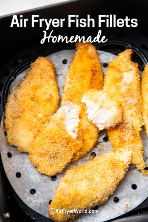 Air Fryer Fish Fillet or fish filet recipe that's air fried | Air Fryer World