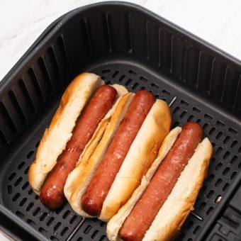 Easy Air Fried Hot Dogs Recipe in Air Fryer | AirFryerWorld.com