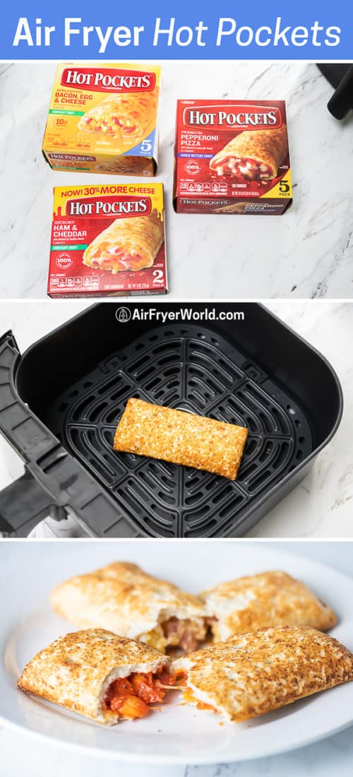 step by step cooking hot pockets from frozen in the air fryer