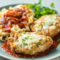 Easy Air Fried Italian Pork Parmigiana Recipe in Air Fryer | AirFryerWorld.com