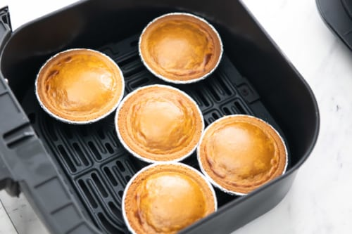 Cooked mini pies in air fryer