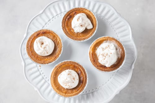 Finished pies with whipped cream