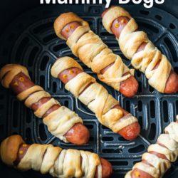 Air Fryer Mummy Hot Dogs Recipe   AirFryerWorld.com