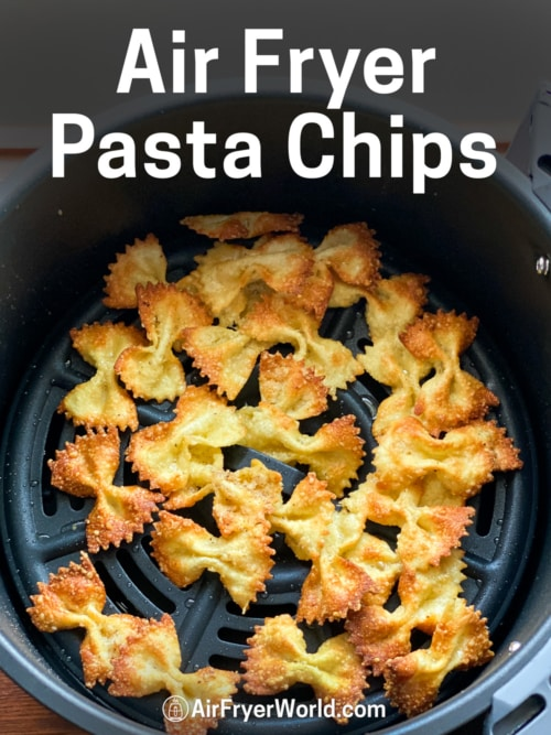Air Fryer Pasta Chips Recipe on Plate