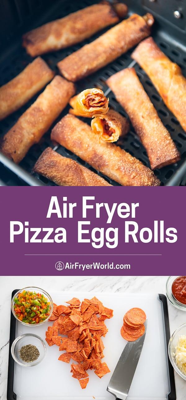 Air Fryer Pepperoni Egg Rolls step by step photos
