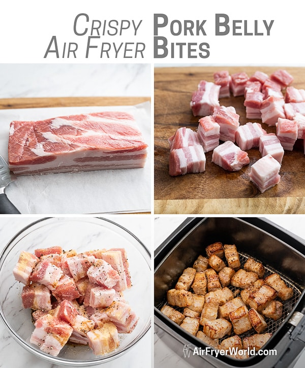 Air Fryer Pork Belly Bites that's Air Fried | AirFryerWorld.com