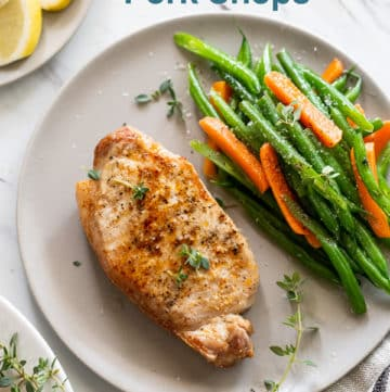 Easy Air Fried Pork Chops Recipe in Air Fryer | AirFryerWorld.com