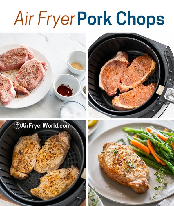 Easy Air Fried Pork Chops Recipe in Air Fryer | AirFryerWorld.com
