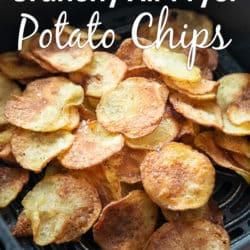 Healthy Air Fryer Potato Chips Recipe | AirFryerWorld.com