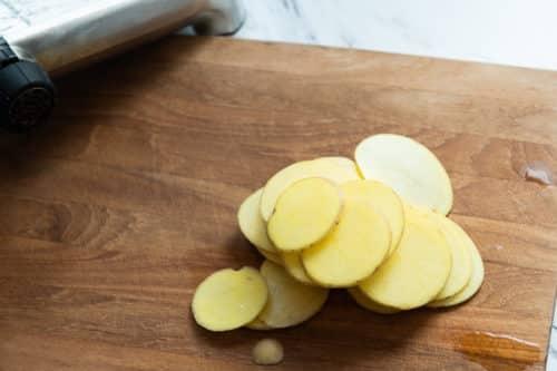 Potato sliced thin