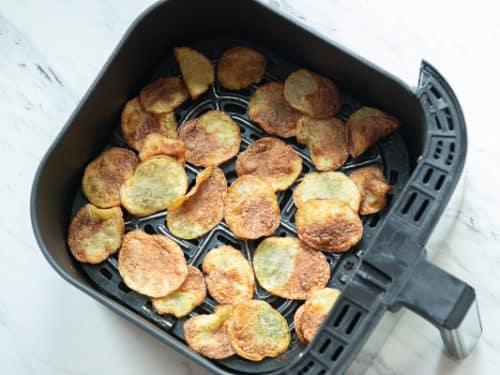 Finished potato chips