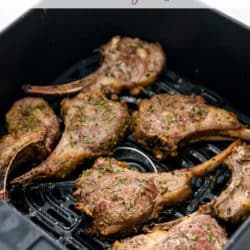 Air Fryer Lamb Chops with Rosemary Garlic | AirFryerWorld.com