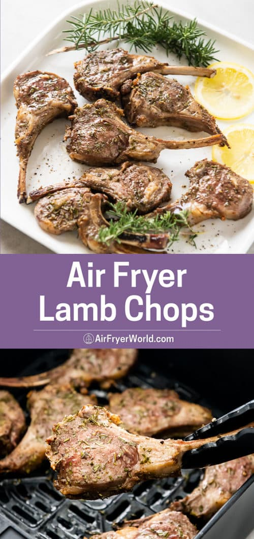 Air Fryer Lamb Chops with Rosemary Garlic step by step photos