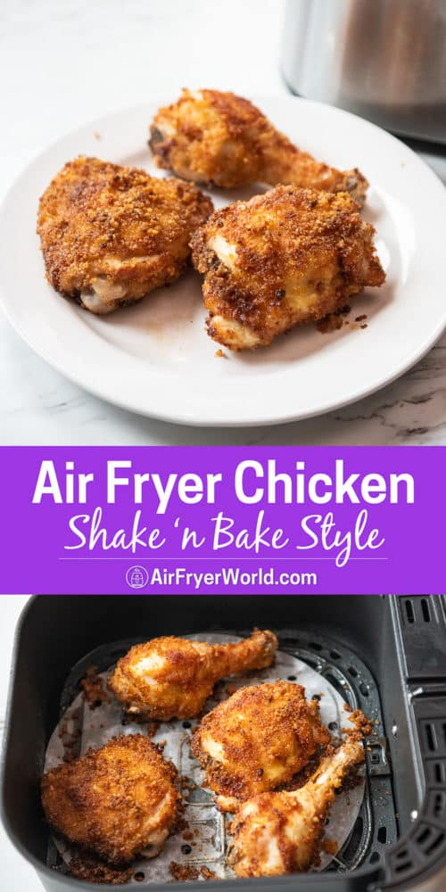 Air Fryer Shake N Bake Style Fried Chicken step by step photos