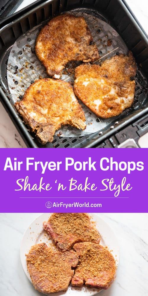 Air Fryer Shake N Bake Pork Chops Recipe step by step photos