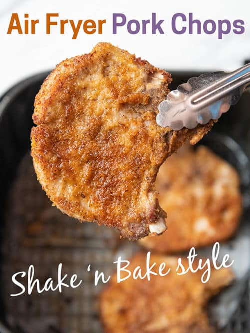 Air Fryer Shake N Bake Pork Chops AirFryerWorld.com