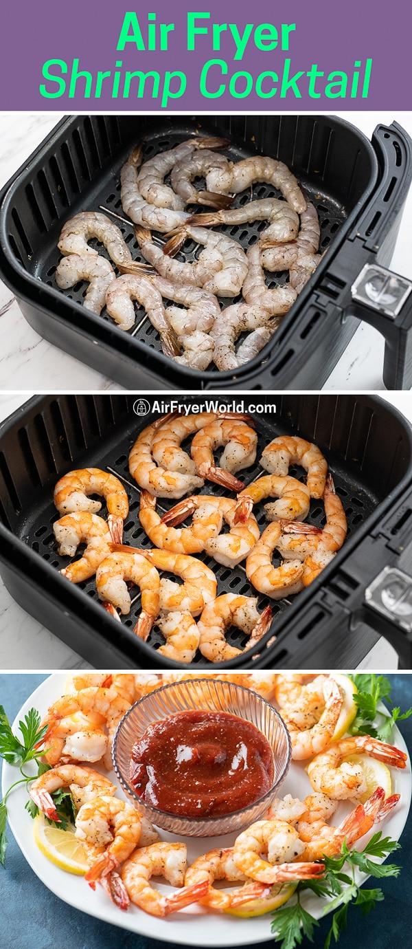 Air Fryer Shrimp Cocktail -step by step