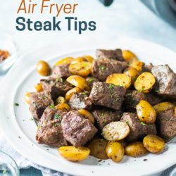 Best Air Fried Steak Tips Recipe in Air Fryer | AirFryerWorld.com