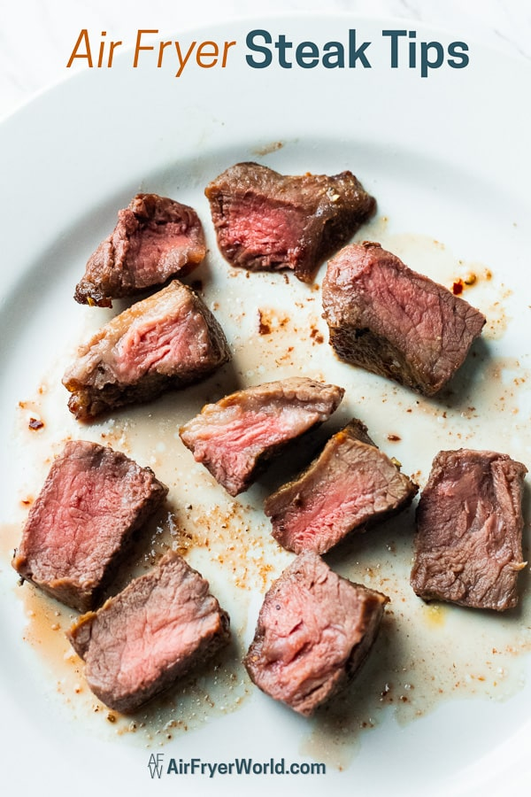 Best rare cooked steak bites on a plate