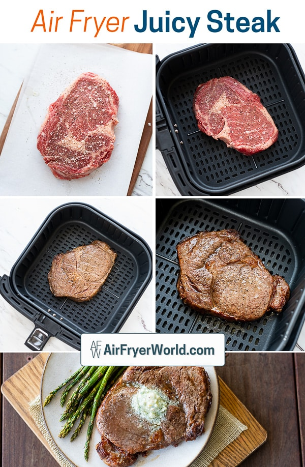 How To Cook Air Fried Steak Recipe in Air Fryer step by step photos