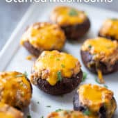 Air Fryer Stuffed Mushrooms with Cheese
