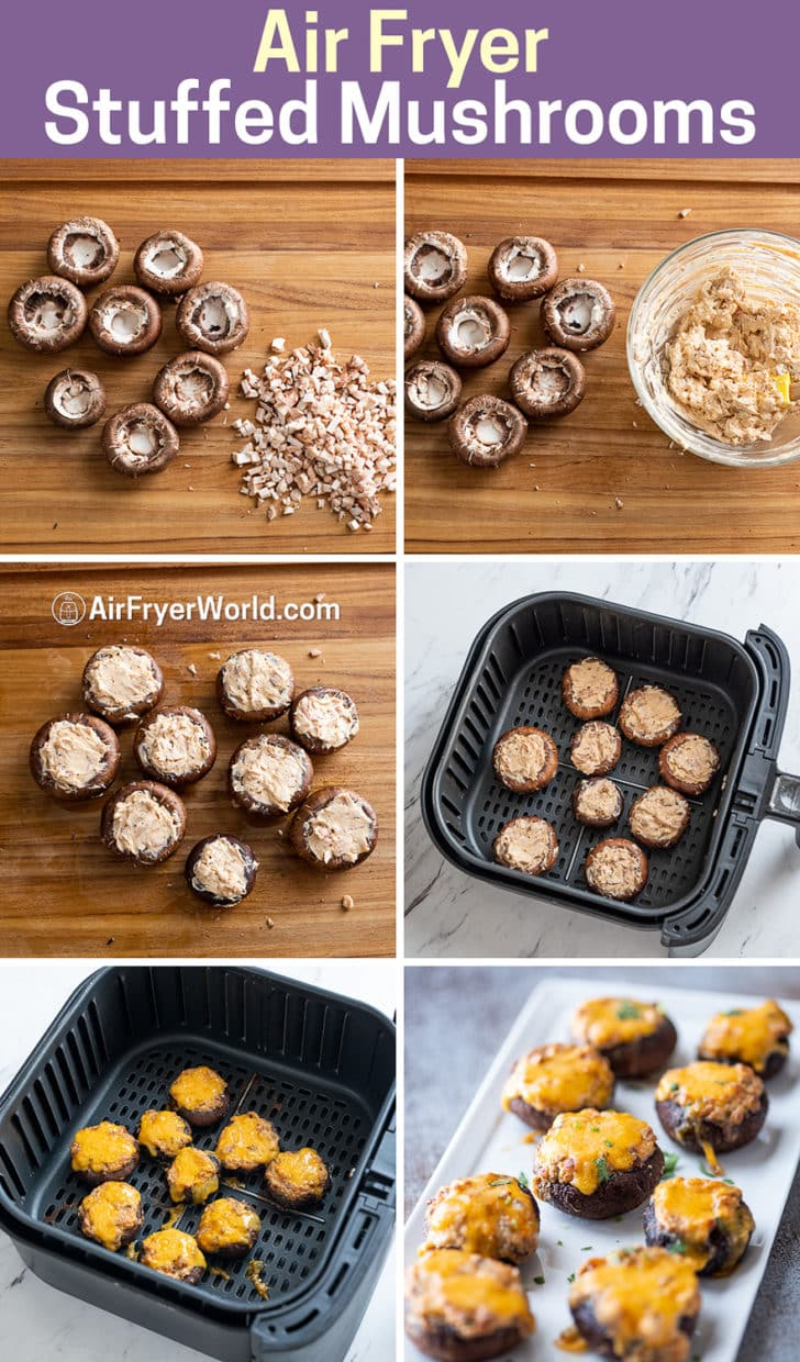 Air Fryer Stuffed Mushrooms-AirFryerWorld