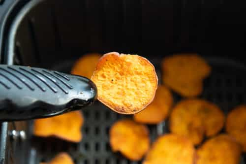 Finished sweet potato chip