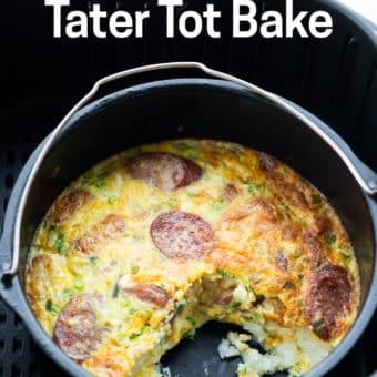 Air Fryer Tater Tot Casserole Bake Recipe - AirFryerWorld.com