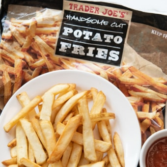 Air Fryer Trader Joe's Handsome Cut French Fries on Plate