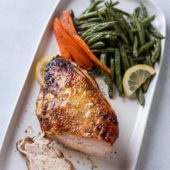 Air Fried Turkey Breast Recipe in the Air Fryer with Lemon Pepper or Herbs | @AirFryerWorld