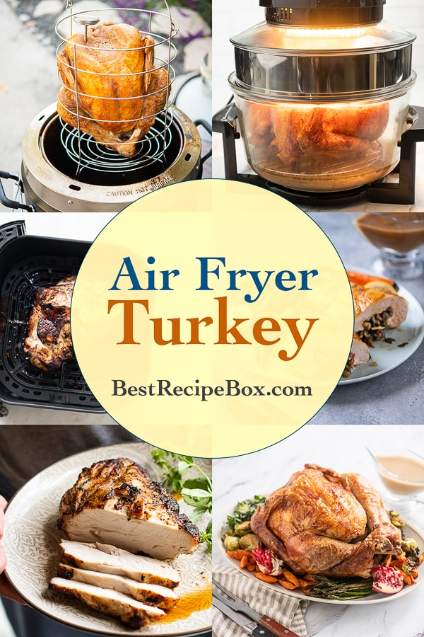 collage of different turkey recipes