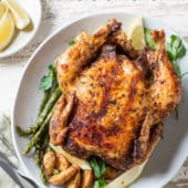 Air Fryer Whole Roast Chicken with Herbs