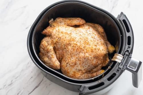 Chicken breast side down in air fryer