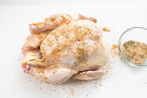 Chicken with rubbed spices