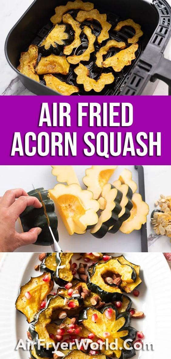 Air Fryer Acorn Squash AirFryerWorld.com