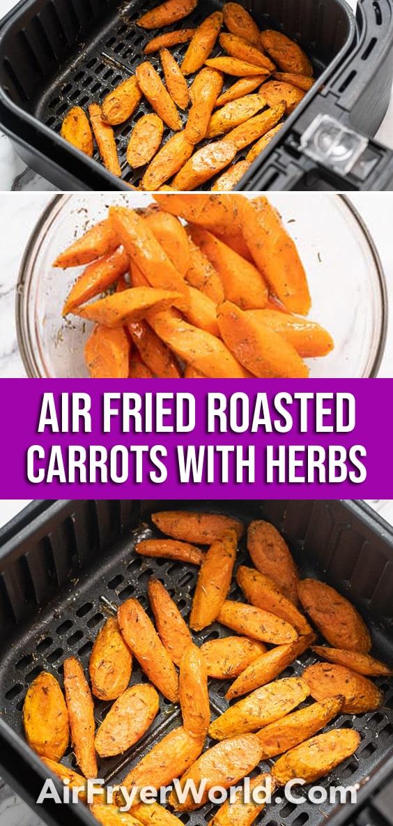 Healthy Air Fried Carrots Recipe in Air Fryer | AirFryerWorld.com