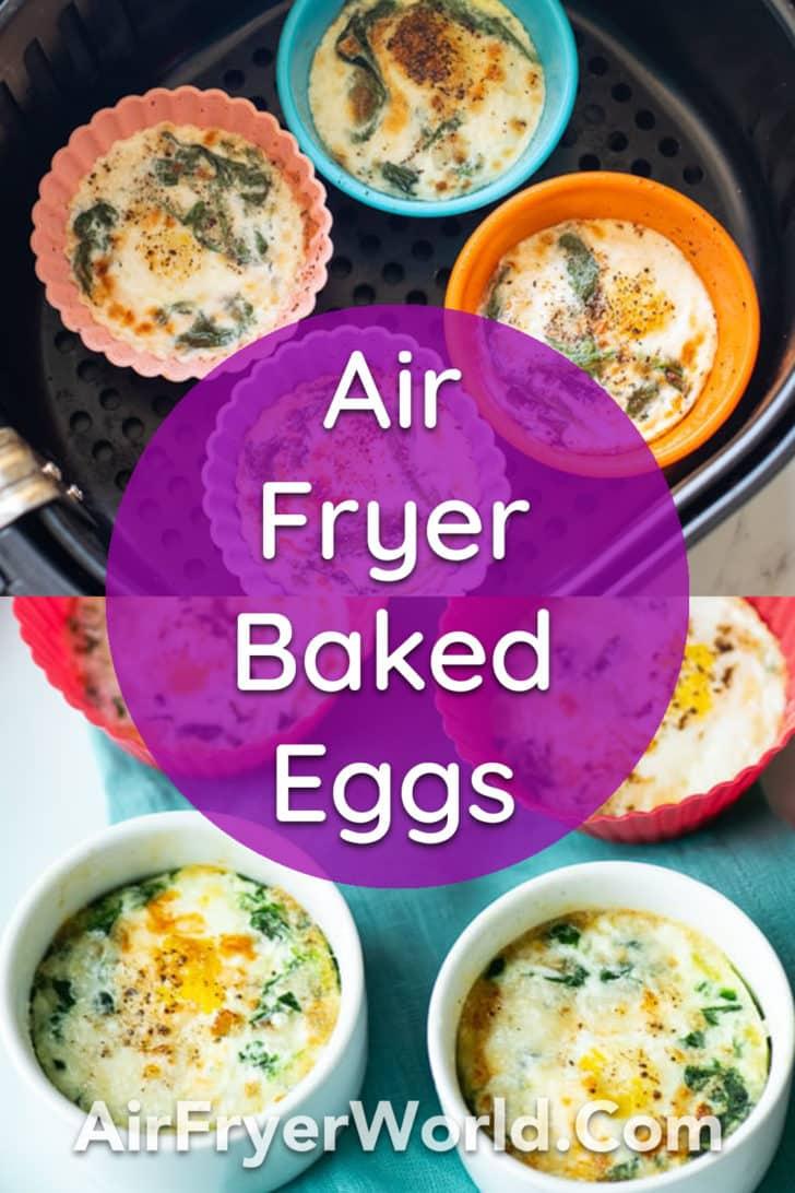 Air fried baked eggs recipe in air fryer   AirFryerWorld.com