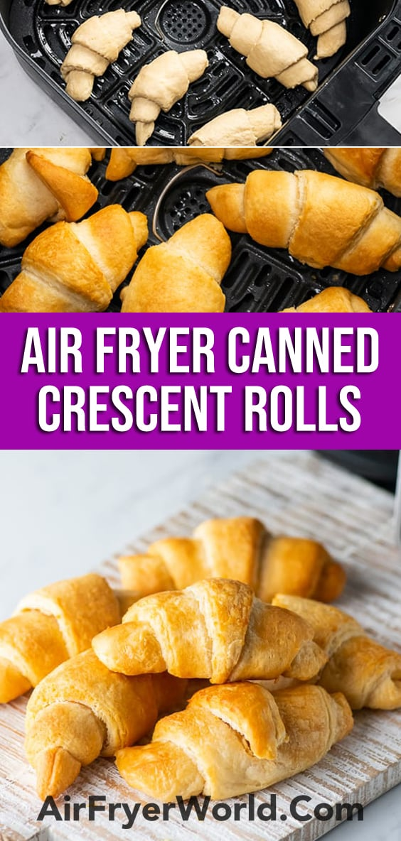 Air Fryer Crescent Rolls (Canned Refrigerated) Air Fried Croissants | AirFryerWorld.com