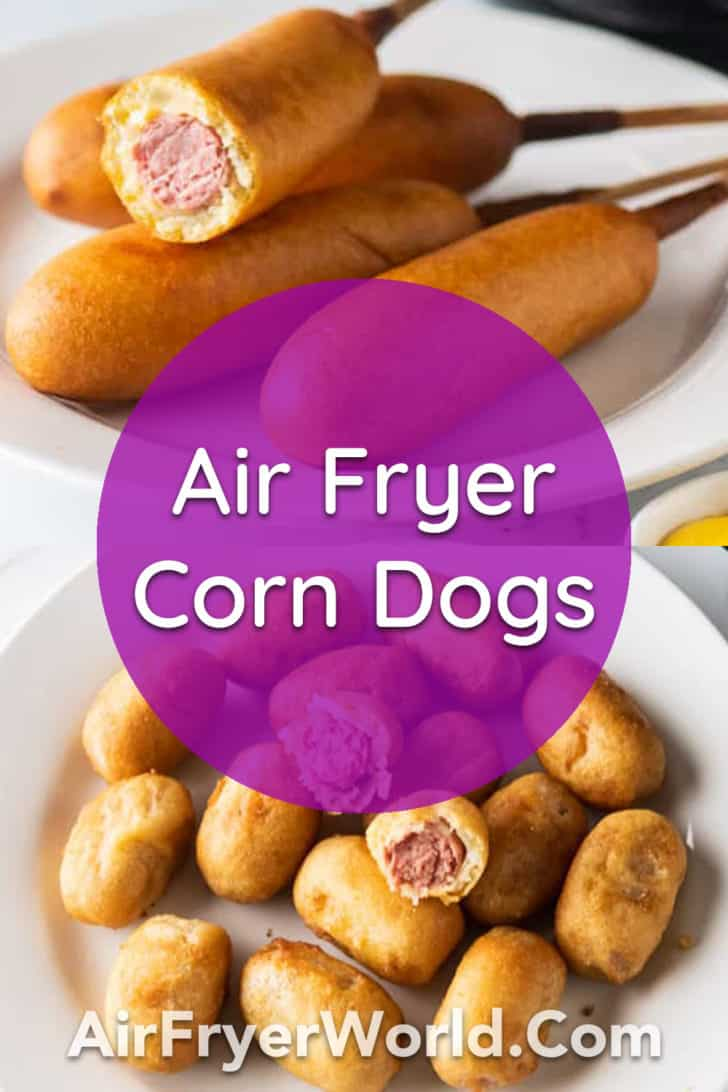 Air Fried Corn Dogs in the Air Fryer | AirFryerWorld.com