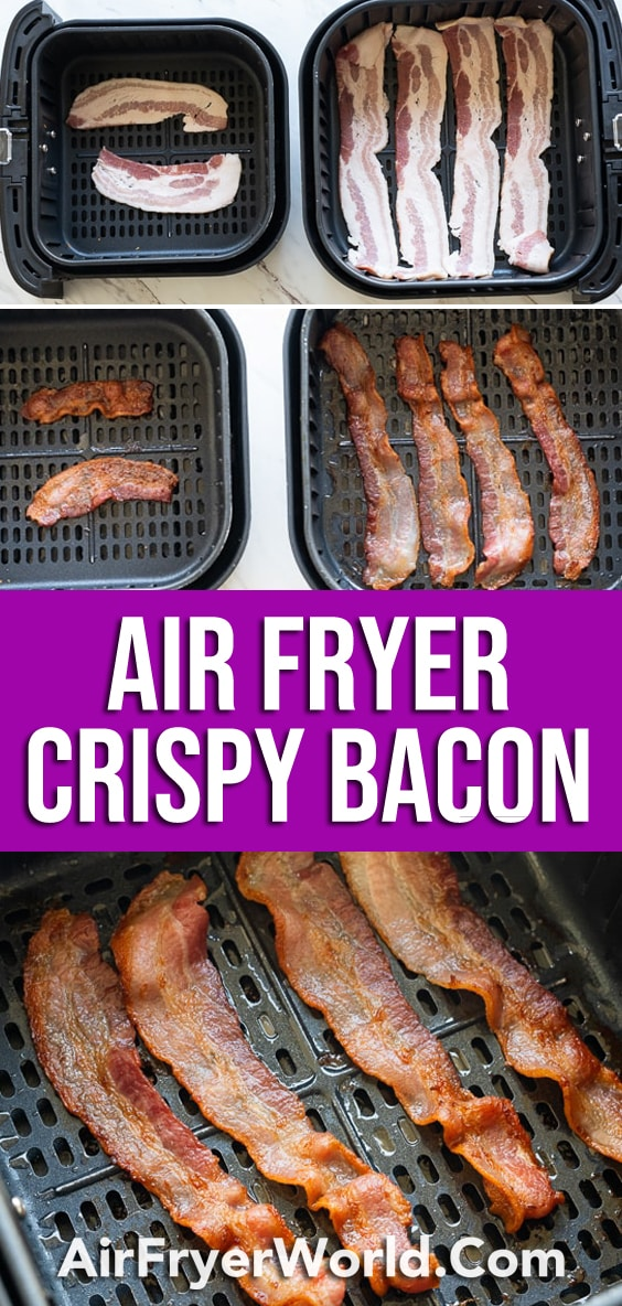 How to cook air fried bacon in the air fryer | AirFryerWorld.com