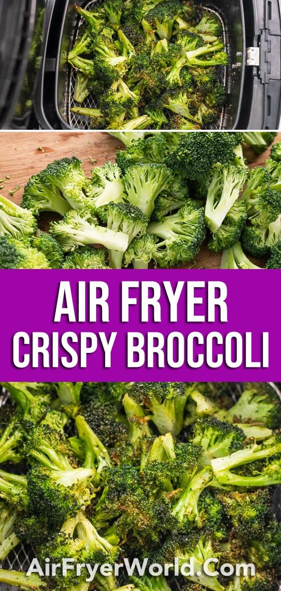 Easy Air Fried Broccoli Recipe in the Air Fryer | AirFryerWorld.com