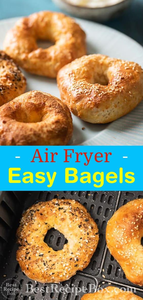 Easy Air Fryer Bagel Recipe @bestrecipebox