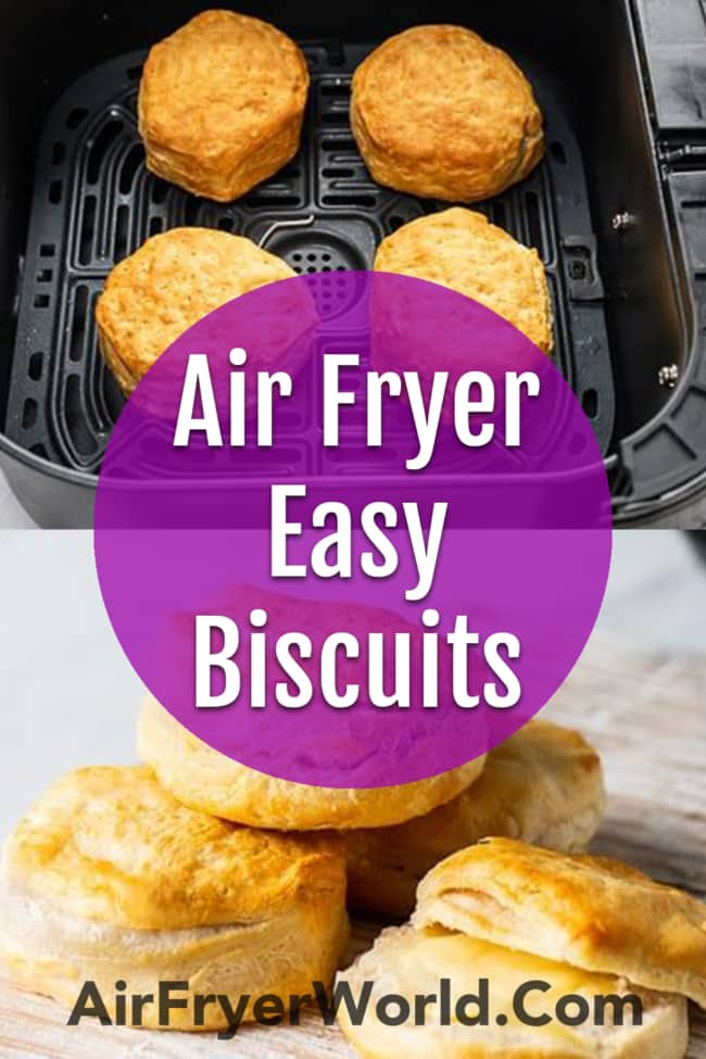 Air Fryer Canned Biscuits or Refrigerated Biscuit Dough Air Fried | BestRecipeBox.com