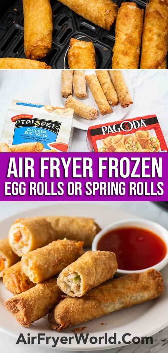 Air Fryer Frozen Egg Rolls or Frozen Spring Rolls   AirFryerWorld.com