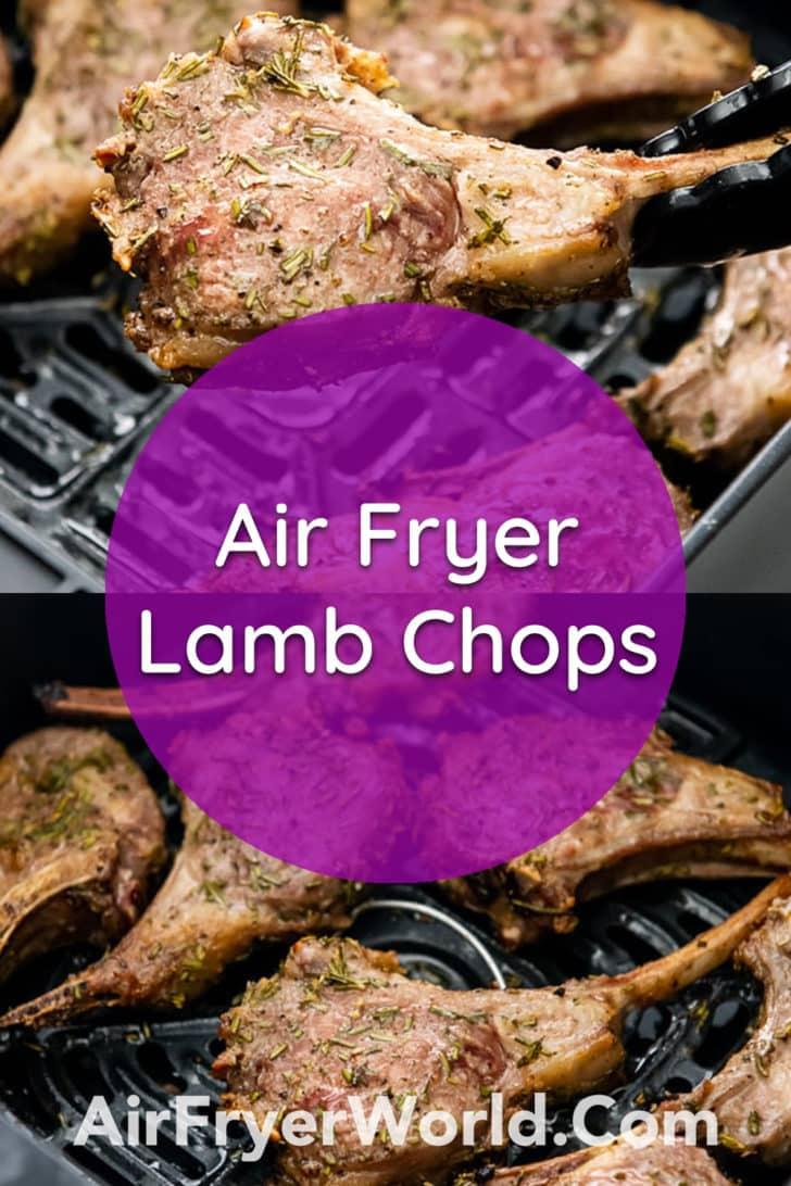 Air Fryer Lamb Chops with Rosemary Garlic | AirFryerWorld.com