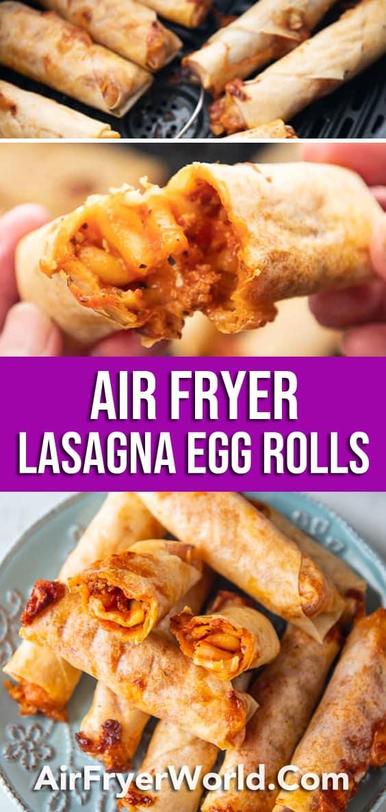 Air Fryer Lasagna Egg Rolls that's Air Fried Crispy | AirFryerWorld.com