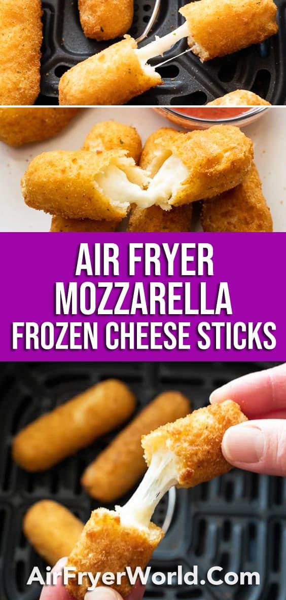 Air Fryer Frozen Mozzarella Sticks or Cheese Sticks Recipe | AirFryerWorld.com